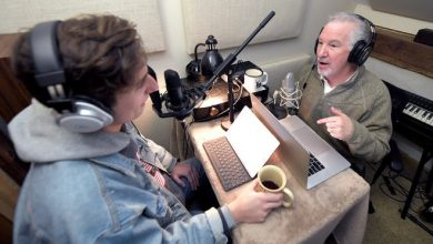 Popular conservative radio personality Phil Valentine has started a new podcast with his adult son, Campbell, that has nothing to do with politics. The father and son record a podcast in their cabin in Brentwood on Thursday, March 7, 2019.