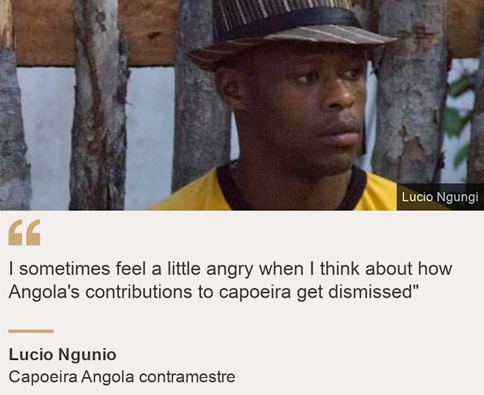 """""""I sometimes feel a little angry when I think about how Angola's contributions to capoeira get dismissed"""""""", Source: Lucio Ngunio, Source description: Capoeira Angola contramestre, Image: Lucio Ngungi"""