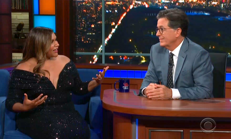 Stephen Colbert apologizes to Mindy Kaling for walking in on her while changing