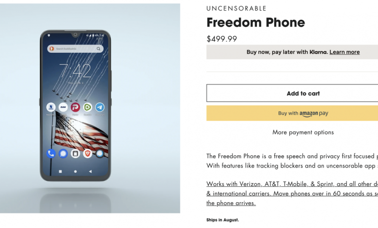 'Uncensorable' Freedom Phone raises a host of security questions