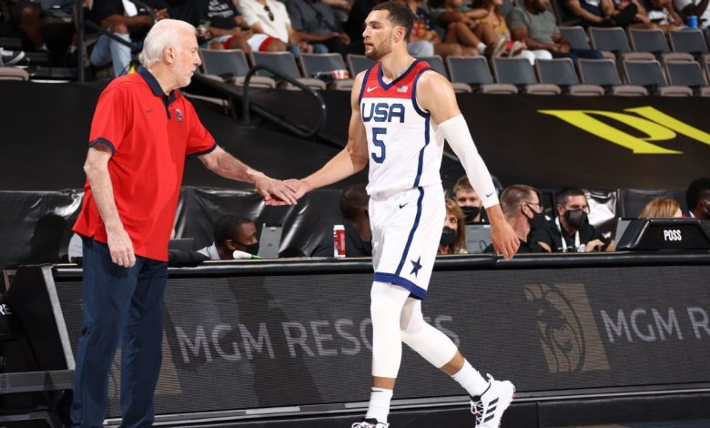 Zach LaVine clears health and safety protocols, will join U.S. Olympic men's basketball team in Tokyo on Thursday