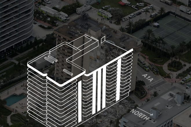 A look at the pre-collapse state of a Surfside, Florida condo.