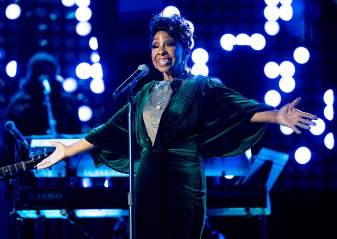 Gladys Knight performs during the CMT Giants: Charlie Pride show at Ascend Amphitheater in Nashville, Tenn., Thursday, April 8, 2021.