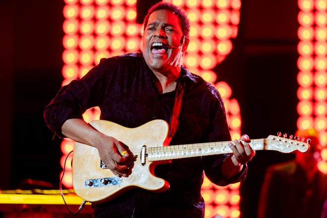 Dion Pride performs during the CMT Giants: Charlie Pride show at Ascend Amphitheater in Nashville, Tenn., Thursday, April 8, 2021.