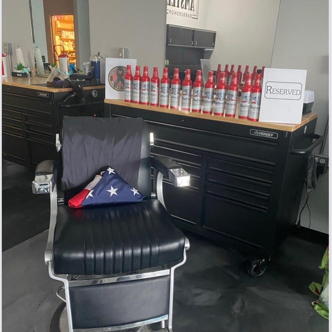 Amstel Barber Shop in Delaware is hoping to honor the fallen soldiers by reserving one of their chairs for the weekend.