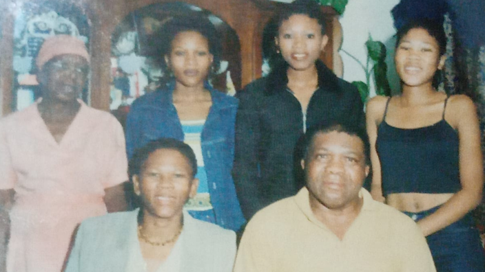 Agnes, her husband Gideon and their three daughters