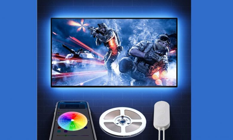Add awesome LED bias lighting to your TV for just $7 at Amazon