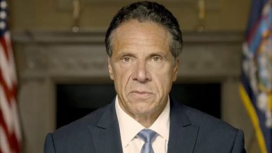 In this image taken from video provided by Office of the NY Governor, New York Gov. Andrew Cuomo makes a statement on a pre-recorded video released, Tuesday, Aug. 3, 2021, in New York. An investigation into New York Gov. Andrew Cuomo has found that he sexually harassed multiple current and former state government employees. State Attorney General Letitia James announced the findings Tuesday.