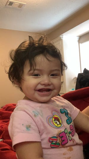 Ava Amira Rivera turned 1 Aug. 26. Earlier this month, she suffered severe illness from COVID-19. ICU beds in local hospitals were full, and she had to flown to a hospital 150 miles away.