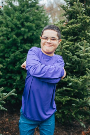 Suzanne Talleur's 16-year-old son, Max, who has Down syndrome