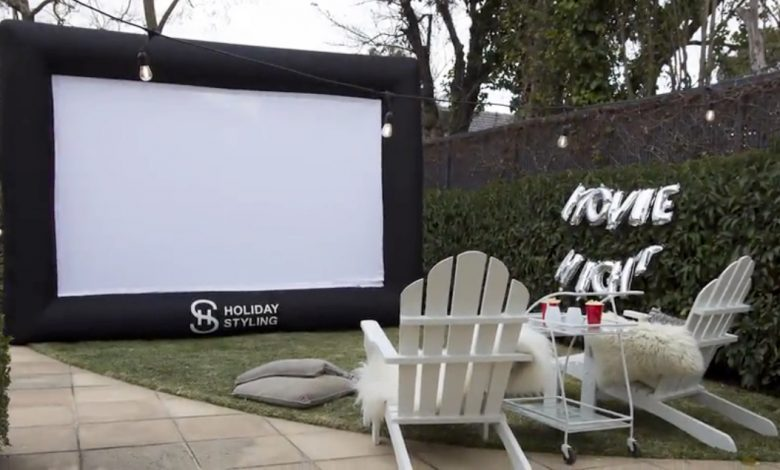 Holiday Styling Inflatable Outdoor Projector Screen is on sale at Amazon