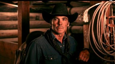 """Jay Pickett on the set of """"Treasure Valley."""" Pickett died before shooting a scene on the modern Western at age 60."""
