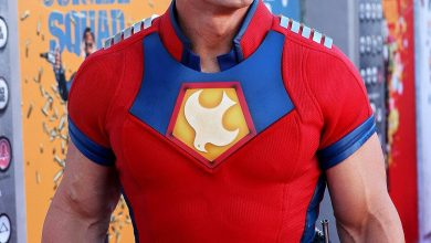 John Cena Arrives in Costume as Peacemaker to 'The Suicide Squad' Premiere