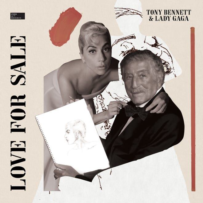 """The cover of Tony Bennett and Lady Gaga's upcoming album """"Love for Sale."""""""