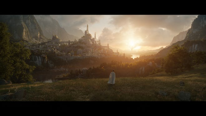 """An image from the first episode of Amazon's """"Lord of the Rings""""-inspired series."""