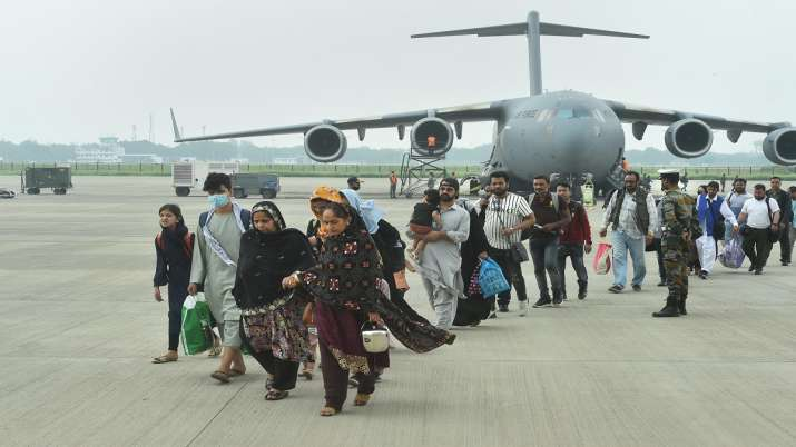 People who were stranded in crisis-hit Afghanistan arrive