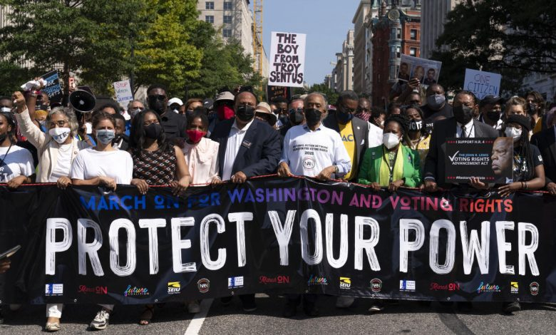 Marchers across US call on Congress to bolster voting rights