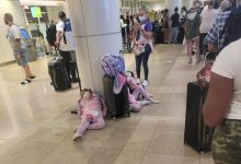 Spirit Airlines passengers waited in long lines at Orlando International Airport before dawn Monday morning after a flurry of Sunday flight cancellations.