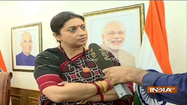 Smriti blasts Rahul after he questions govt's NMP move