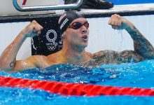 Swimmer Caeleb Dressel powers to 4th gold with victory in 50-meter freestyle at Tokyo Olympics