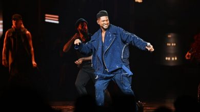 """Usher performs at the grand opening of """"Usher: The Las Vegas Residency"""" at The Colosseum at Caesars Palace on July 16, 2021, in Las Vegas."""