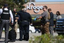 Outside the Kroger on New Byhalia Road in Collierville, Tennessee, where a shooting took place Thursday afternoon, Sept. 23, 2021.