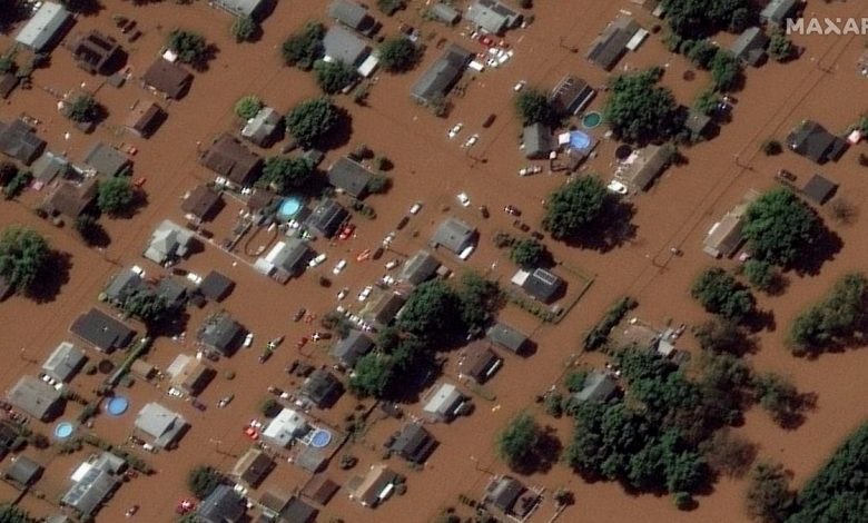 Before and after satellite images show widespread devastation of New Jersey flooding