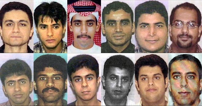 The 12 hijackers who lived in Palm Beach County, Florida. Among them were three of the four pilots who hijacked planes on Sept. 11, 2001. They are Mohammed Atta (top row, far left), Marwan al-Shehhi (top row, far right) and Ziad Jarrah (bottom row, far right).