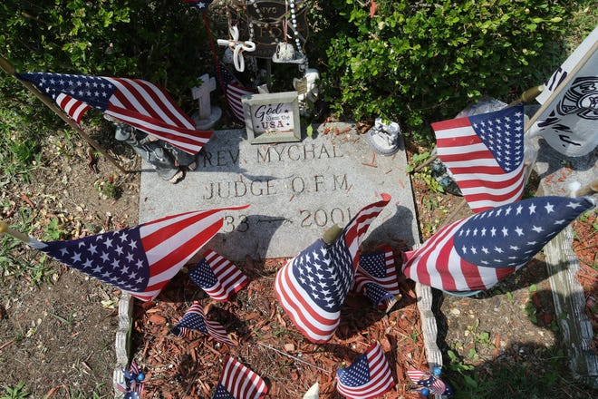 The grave of Father Mychal Judge.