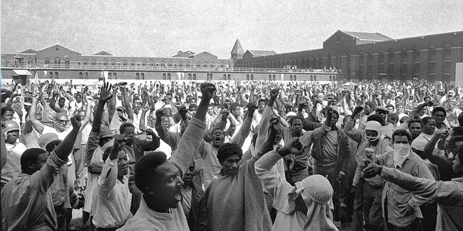 """The documentary """"Attica"""" chronicles the infamous 1971 inmate uprising at the upstate New York prison that ended in a bloody clash with police."""