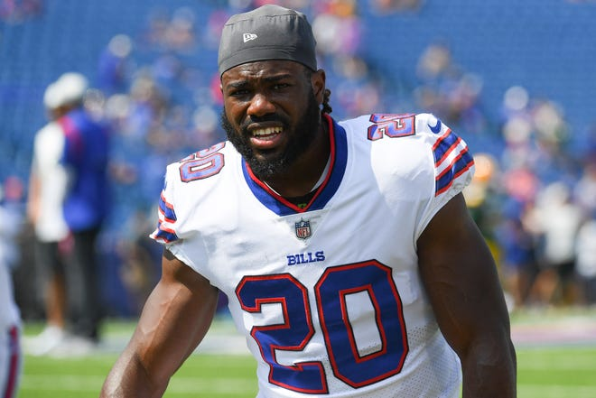 The Bills' Zack Moss rushed for 481 yards and four touchdowns last season as a rookie.