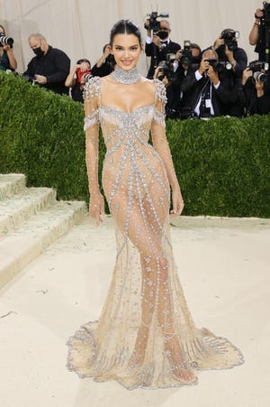Kendall Jenner attends The 2021 Met Gala Celebrating In America: A Lexicon Of Fashion at Metropolitan Museum of Art on September 13, 2021 in New York City.