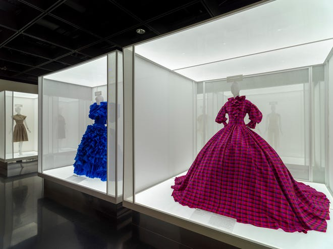 """This image released by The Metropolitan Museum of Art shows fashion displays, part of the """"In America: A Lexicon of Fashion"""" exhibit at The Metropolitan Museum of Art in New York."""