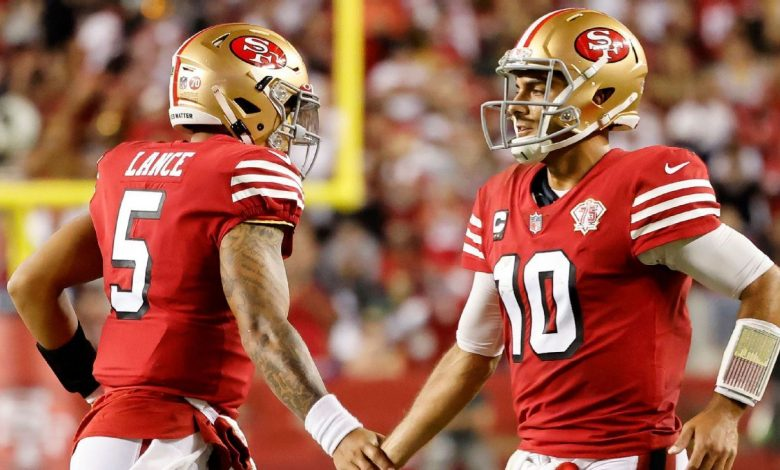 Adamant that 'this isn't the preseason,' coach Kyle Shanahan stresses there's no quarterback battle for 2-1 San Francisco 49ers
