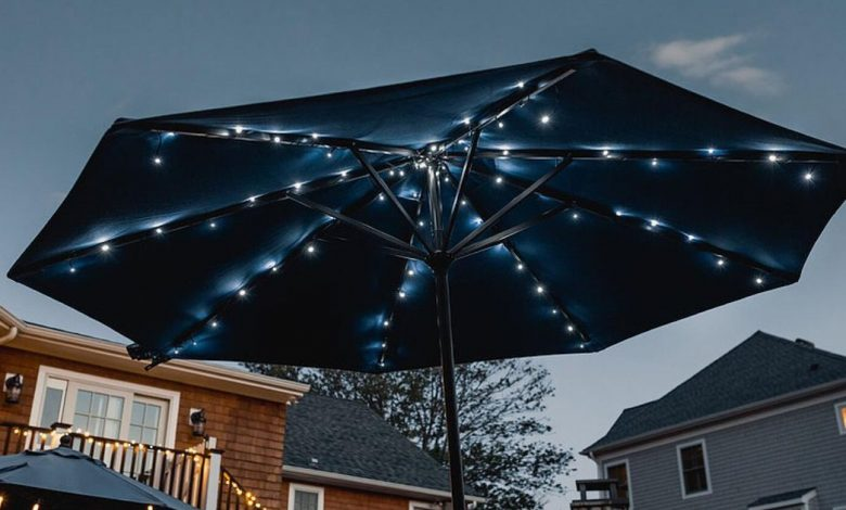 Add solar-powered LEDs to any outdoor umbrella today for 40% off