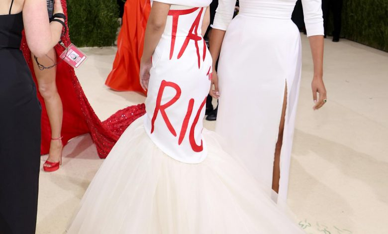 Alexandria Ocasio-Cortez sends a message at the Met Gala: 'Tax the rich'