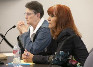 Victoria Bowmann (right) and Mlee Clark served on the Arizona State Board of Massage Therapy, the five members of which are appointed by the governor. The board has historically been dominated by massage therapists.