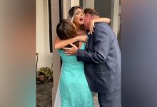 Bride blindsided by arrival of Brazilian parents on her wedding day
