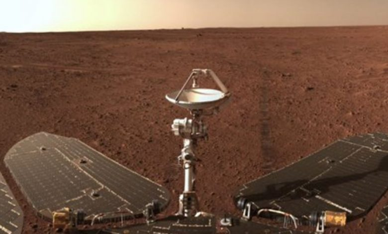 Chinese Mars rover snaps sweeping sands in red planet panorama