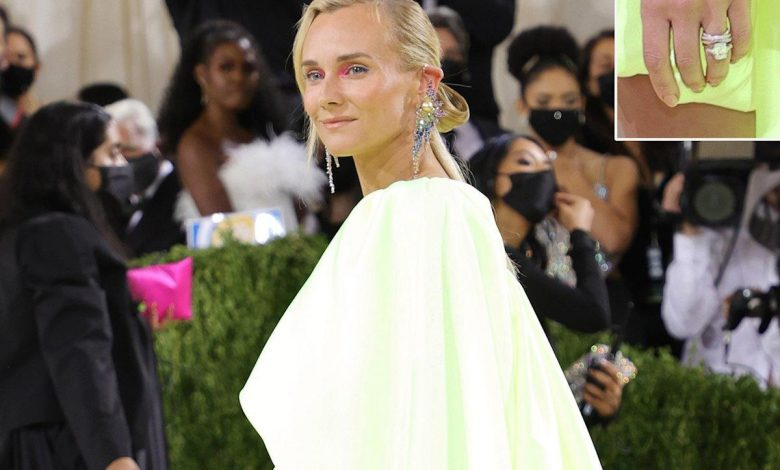 Diane Kruger Debuts Her Gorgeous Engagement Ring from Norman Reedus at the 2021 Met Gala
