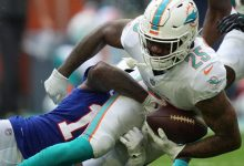 Dolphins QB carted off after big hit from Bills