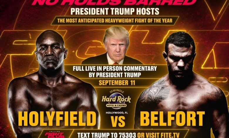 Evander Holyfield vs. Vitor Belfort: How to watch, start time, Donald Trump commentary