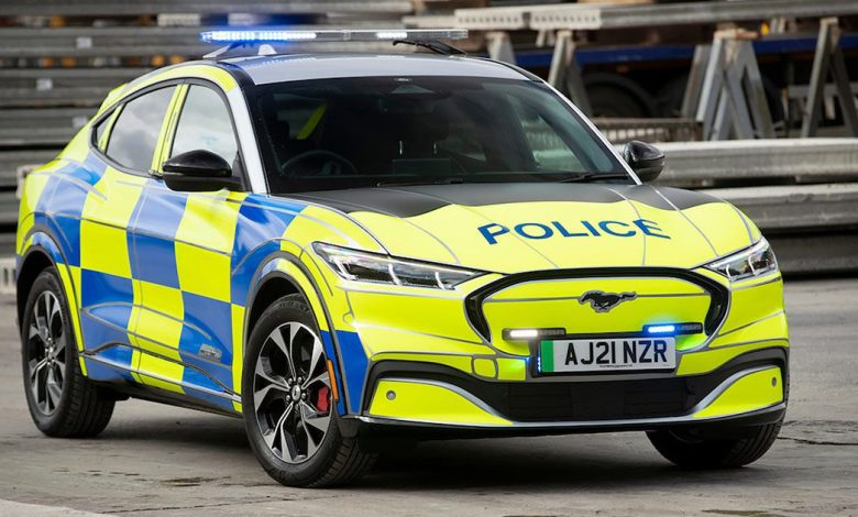 Ford Mustang Mach-E police car concept is a lean, mean crime-fighting machine