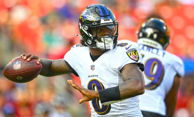 Have injuries turned Lamar Jackson's opening in Las Vegas into a one-man show?