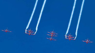 IAF took to the Skies for an aerial display over Dal Lake