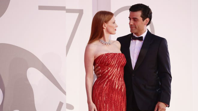 Jessica Chastain responds to Oscar Isaac kiss at Venice Film Festival