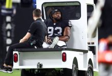 Las Vegas Raiders DT Gerald McCoy out for rest of season with knee injury, source says