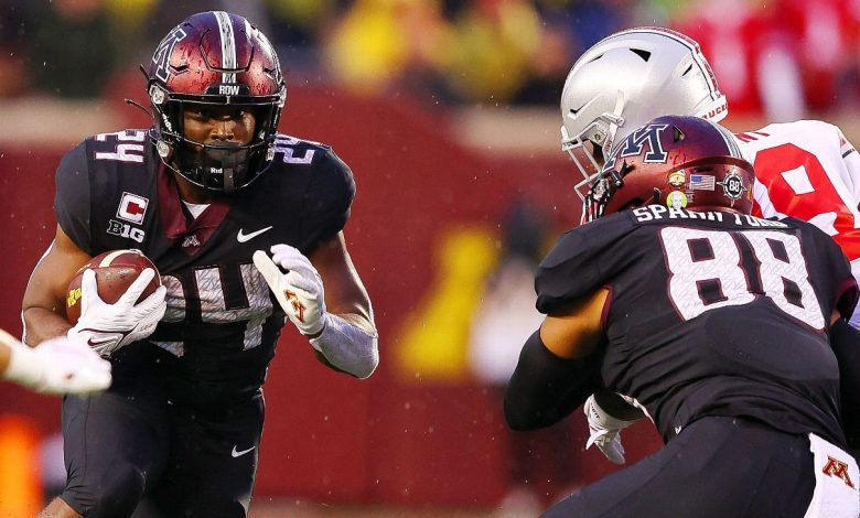 Minnesota RB Mohamed Ibrahim's big night ends with lower leg injury