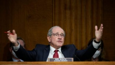 Sen. Jim Risch, R-Idaho, questions Secretary of State Antony Blinken during a Senate Foreign Relations Committee hearing on Sept. 14, 2021.