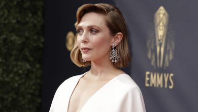 See Elizabeth Olsen's elegant Emmys look designed by sisters Mary-Kate and Ashley